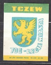 POLAND 1960 Matchbox Label - Cat.Z#192IV  700th an. of the City of TCZEW - arms.