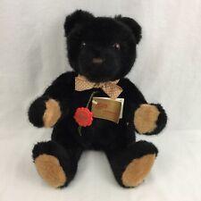 Hermann Original Black Teddy Bear Vintage Red Tag West Germany Sweet Teddys