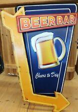 Blechschild Bier Beer Bar Imbiss Biergarten Hinweisschild Pfeil Hausbar Deko