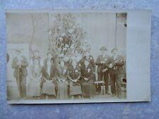 Ancienne carte postale photo famille personnages Violon musicien ...