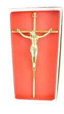 (1) Bronze Metal Crucifix Religious Wall Hanging NEW IN BOX