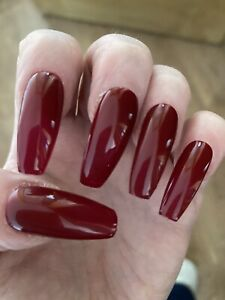 Red Diva & Red Shimmer Press On Nails / False Nails / Stick On Nails