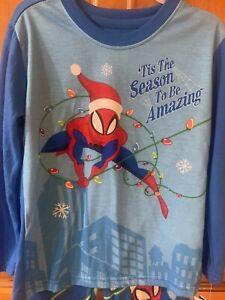 Boys Spider-Man Christmas 'Tis Season to be Amazing Poly Fleece Pajamas SIZE 4/5