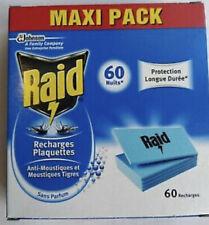 LOT de 60 recharges plaquettes  Anti moustiques RAID.