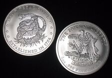 5 oz Silver Round - .999 silver * Don't Tread on Me / Price of Liberty * (S-420)