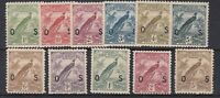 PNG838) New Guinea 1931 Dated Birds overprinted 'OS' set 1d to 5/- SG O31-O41