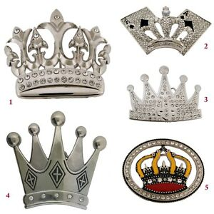 Iced Out Crown Belt Buckle Bling Bride Multicolored Metal Princess Fashion Gift