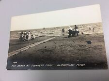 RPPC of The Beach at Tourists Park in Gladstone, Michigan. Unposted.