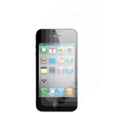 For Apple iPhone 4 4G 4S [5-Pack] Screen Protector Film Clear