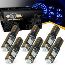 6) Error Free Non-Polarity Instrument Gauge Cluster Light Bulb 3030 3SMD T5 Blue