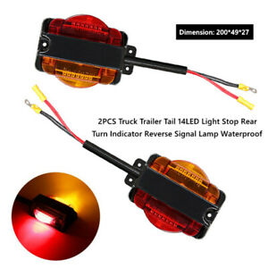 2X LED Car Truck Trailer Tail Stop Rear Turn Indicator Reverse Signal Light Trim