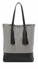 Loeffler Randall Woven Tote Bag In white/eclipse stripes. New With Tags