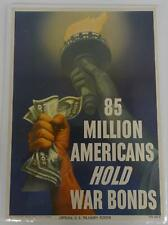 85 Million Americans Hold War Bonds 1945-O-629877 Official U.S. Treasury Poster