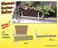Blumenkasten - Halterung mit Gefälleausgleich braun,  1 Paar (2 Stück)