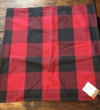 Pottery Barn Buffalo Check Red Black Plaid Pillow Cover 24x24 Christmas Winter