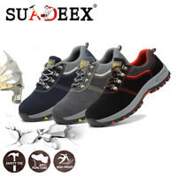 Womens Work Safety Shoes Hiking Breathable Outdoor Steel Toe Protective Sneakers