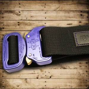 "DYSTROY MASTER BELT ""Purple HARD"" Biker Gürtel mit Original COBRA Buckle"