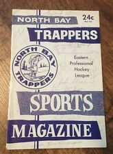 1961-62 North Bay Trappers Signed Program EPHL Barry Ashbee