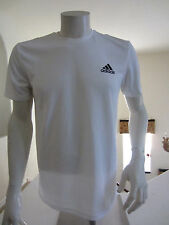 ADIDAS ClimaLite ESS TECH TEE Training Shirt Mens Medium M  White NWT