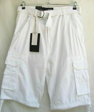 ASK JEANS..WHITE..MEN'S..LOOSE..WHITE..CARGO..SHORTS..NEW TAGS..sz 34 X 15