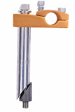 ANODISED GOLD ALLOY TOP 4 BOLT BMX/FREESTYLER HANDLEBAR STEM 21.1mm HOLLOW BOLT