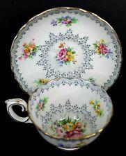 Crown Staffordshire Vintage Bone China Tea Cup and Saucer England #F15484