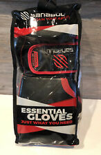 Sanabul Essential GEL Boxing Kickboxing Training Gloves (Black/Red, 14 oz)