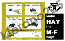 "A3 MASSEY FERGUSON ""MAKE HAY THE MF WAY"" POSTER."
