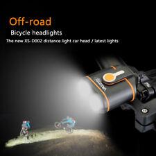 20000LM 2x XM-L2 LED Distance Beam Head Bike Bicycle Light+16000mAh+Laser Light