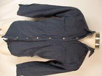 Banana Republic Mill Valley Vtg Mens Blue Stripe Long Sleeve Cotton Shirt S
