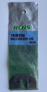 New! RCBS Trim Pro Case Trimmer Shell Holder #15 Model 90315 for Reloading
