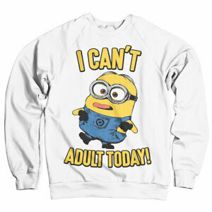 Officially Licensed Minions - I Can't Adult Today Sweatshirt S-XXL Sizes