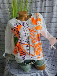 Soccx Shirt Damen weiß mit Aufdruck Damen (737) Neu