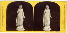 Photo stéréo Dublin International Exhibition 1865 sculpture la Beatrice de Dante
