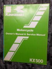 Kawasaki KX 500 Owner's Service Manual AHRMA Vintage EVO MX Motocross KX500 A2