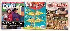 Quilting Magazines - lot of 3 - Quilting Arts & The Quilt Life