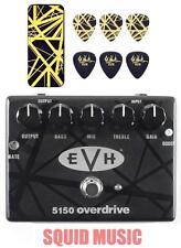 MXR EVH 5150 Overdrive Pedal Eddie Van Halen EVH Black & Yellow Stripes Pick Tin