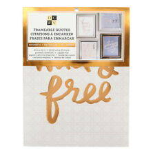 American Crafts DCWV Copper Frameable Quotes Stack Prints - Gold Foil, 80 Sheets