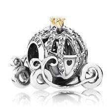 925 argento Sterling Pandora DISNEY CENERENTOLA Zucca Carrozza Charm 791573cz