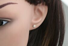9mm Kite Earrings 10K Yellow Gold 0.13ctw Diamonds Screw Back