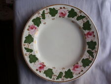 "AN ANTIQUE BLOOR DERBY PORCELAIN RED MARK 1820-1840 ROSE PAINTED PLATE  7 7/8"" W"