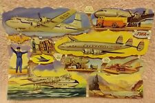 More details for vintage mlp no 995 scraps aircraft aeroplanes airlines twa sas made in england
