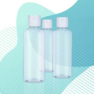 50ml Clear Plastic Bottle Refillable Flip Cap Container for Hand Gels Lotions