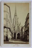 CHIESA Saint-Maclou Per Rouen Carta Armadio Vintage Albumina Ca 1885