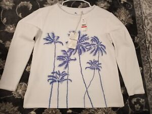 Tommy Bahama Women's Palm Vialle Embrd Crew Neck Sweatshirt Size XSmall