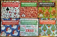 Christmas Themed Puzzles - Pick - Gingerbread Candy Cane Tree or Novelties New