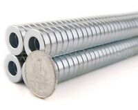 """Neodymium Magnets - 1/2"""" x 1/8"""" - 1/4"""" Hole - N35 Ring Magnet - Super Strong"""