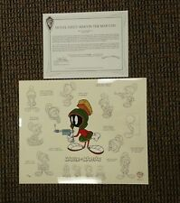 Cute Model Sheet : Marvin the Martian Limited Edition Cel UF 1996 Ray Gun WB Art