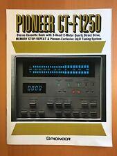 ORIGINAL MARKETING BROCHURE PIONEER CT-F1250 CASSETTE DECK D675