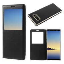 "Etui View Case Flip Folio Leather Cover NOIR Samsung Galaxy Note 8 6.3""/ Note8"
